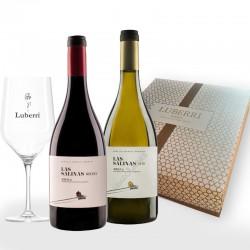 Estuche Premium Las Salinas 2 botellas 75 cl. Regalo de copa de vino